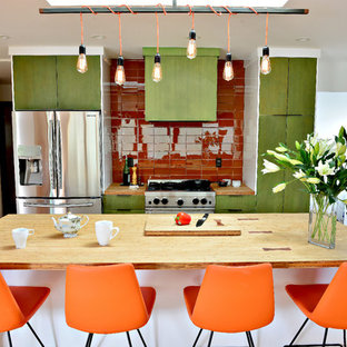 Inspiration for a 1960s home design remodel in Portland