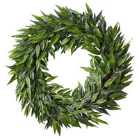 "Pure Garden 22"" Indoor Artificial Microphylla Leaf Wreath"