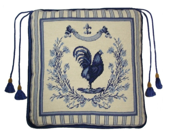 Bonjour Rooster Chair Pad 18 Quot X18 Quot Traditional Seat