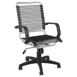 Amazing Contemporary Office Chairs Bradley Bungie Office Chair Black Aluminum