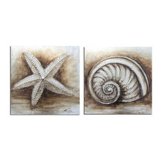 2 Shell Paintings ART2002A