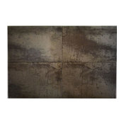 "Coal Glazed Tile Antares Nickel, 16""x24"", Set of 50"