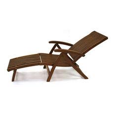 Eucalyptus Venetian Steamer Lounge Chair With Ottoman