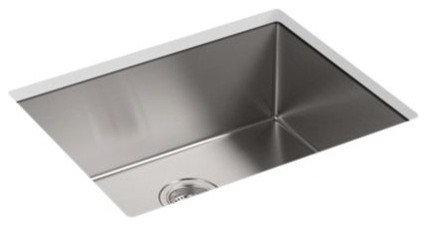 """Strive(TM) 24"""" x 18-1/4"""" x 9-5/16"""" under-mount single bowl kitchen sink with bas - Kitchen Sinks"""
