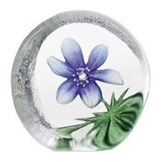 Blue Windflower Crystal Sculpture