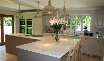 Chichester kitchen painted in Farrow and Ball Elephants Breath and Skimm