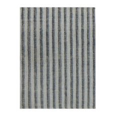 "Amer Tropics Blue-Charcoal Hand-Woven Runner Rug 2'3""x8' TRO62308"