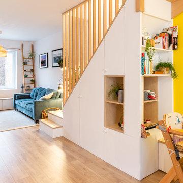 Réunir deux appartements pour créer un duplex familial - Projet Pyramides