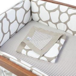 Stunning Contemporary Baby Bedding Cobblestone Piece Crib Set Taupe