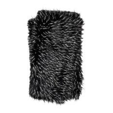 """Black White Zora Decorative Throw, Black and White, 4'2""""x5'"""