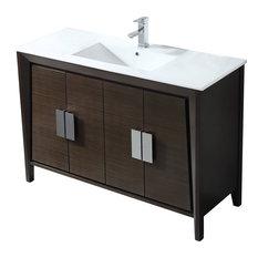 48-inch Larvotto Ebony Modern Bathroom Vanity