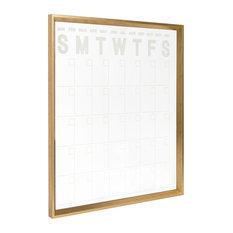 Calter Erasable Acrylic Monthly Wall Calendar, Gold