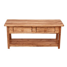 Country Wooden TV Stand, Natural