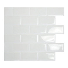 Smart Tiles 6-Pack Subway White Tiles SM1020-6