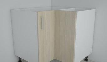 Floor 90 Degree Kitchen Corner Cabinet