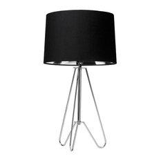 Ziggy Table Lamp, Polished Chrome