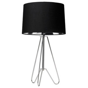 Ziggy Table Lamp, Polished Chrome