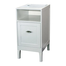 Bellaterra Home   16 Inch Cabinet Wood White   Bathroom Vanities And Sink  Consoles