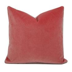 Decorative Coral Velvet Pillow Cover, Legacy Tulip, Pindler Velvet, 20 X20