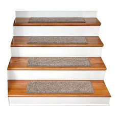 Tape Free Non-Slip Carpet Stair Treads, Set of 15, Cache