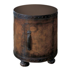 Butler Specialty Company   Butler Vasco Old World Map Duffel Table   Side  Tables And End