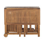 Safavieh Arvin Outdoor 5-Piece Dining Set, Teak Look