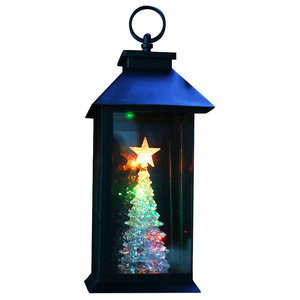 Christmas Tree Lantern Stake With Color Changing Led Lights