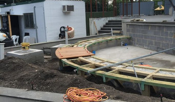 Curved Wooden Decking