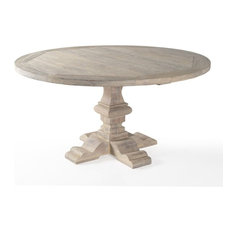 Teak Outdoor Dining Table - Palmetto - White Washed Teak
