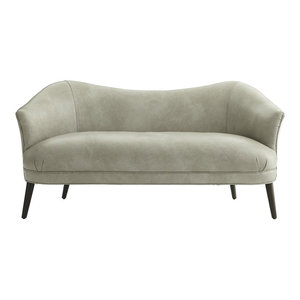 Stone Leather Settee  Inviting Home Inc