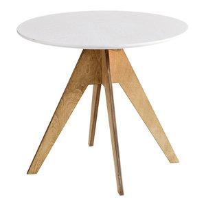 EDI Round Table, Oak and White