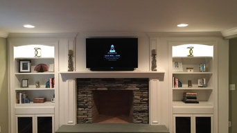 Custom bookcase / fireplace/ entertainment center