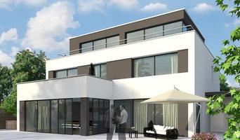 3D Visualisierung modernes Haus
