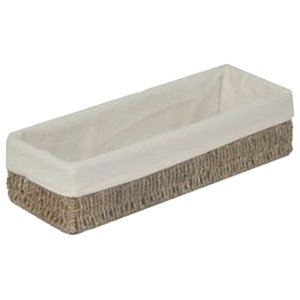 Cotton Lined Seagrass Rectangular Trough