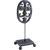Opera Mask Sculpture, Dark Bronze