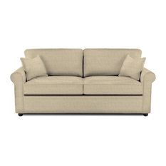 Klaussner   Brighton Dreamquest Queen Sleeper Sofa, Microsuede Khaki   Sleeper  Sofas