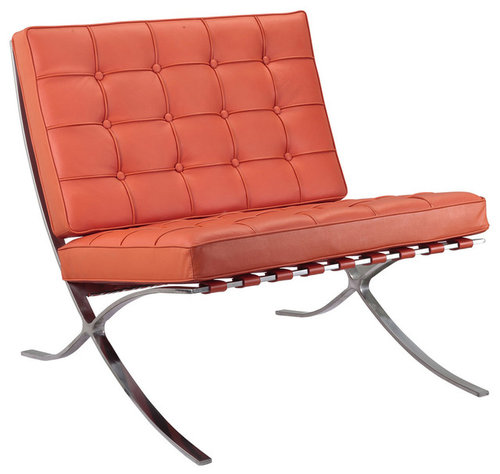 M331 Barcelona Lounge Chair Orange Leather More Info