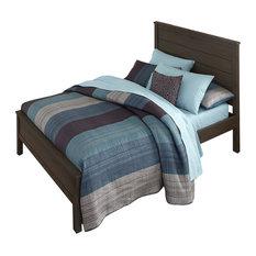 Highlands Alex Panel Bed, Espresso, Twin
