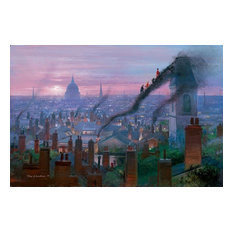Disney Fine Art Smoke Staircase by Peter Ellenshaw, Gallery Wrapped Giclee