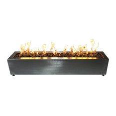 Stainless Steel Rectangle Fire Table, LP