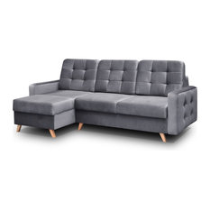 Meble Furniture Rugs Vegas Futon Sectional Sofa Bed Queen Sleeper With Storage
