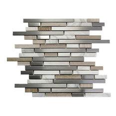 Interlocking Blend Odyssey Shores Stainless Steel Tile, Sample