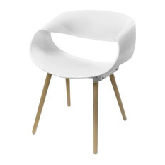 Infinity Modern Dining Chair, White