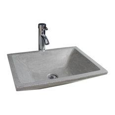 Tamara Bathroom Vessel Sink, Grey, 50 cm