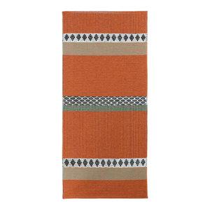 Savanne Woven Rug, Orange, 70x300 Cm
