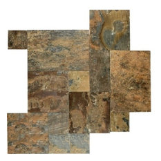 Rustic Gold French Pattern Slate Tile, Sample