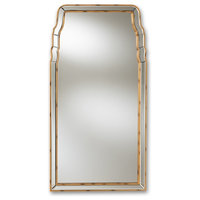 Contemporary Queen Style Antique Gold Finished Accent Wall Mirror