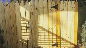 Custom Wooden Stockade Privacy Fence