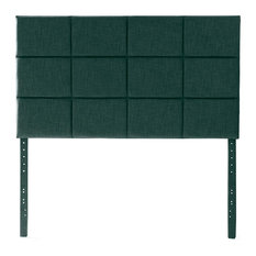 Modern Headboard Extra Plush Upholstery With Geometric Pattern Spruce