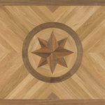 """Oshkosh Designs - Odyssey Artisan Wood Medallion, 36""""x60"""", Unfinished, 5/16"""" - Simple yet elegant, the Odyssey Artisan Rug medallion suggests a voyage waiting to happen. The high-contrast, three-dimensional compass at the center captures the eye, while the hardwood planks of the background send the gaze traveling outward to all corners of your space. An adventurous design to bring symmetry and movement to any home or office."""